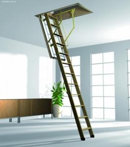 Купить бюджетную чердачную лестницу Рото / Мансардная лестница Roto NORM 8/3 ISO-RC цена.