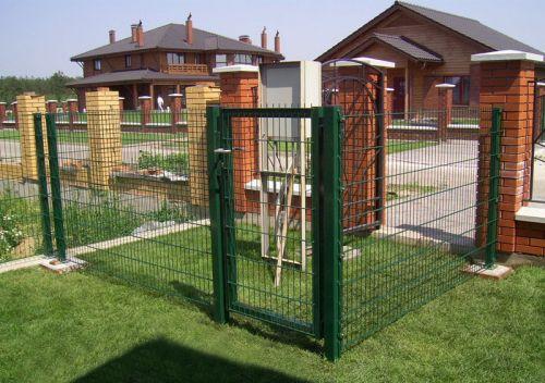 Секционные распашные ворота и калитки, сварные оцинкованные ворота и калитки