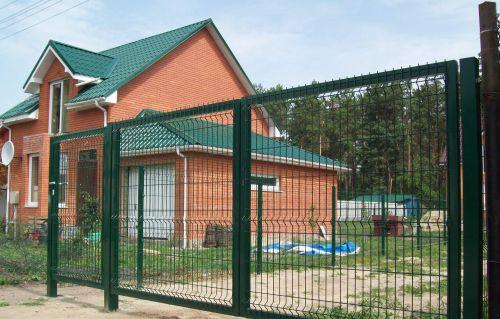 Секционные распашные ворота и калитки, сварные оцинкованные ворота и калитки в полимерном покрытие